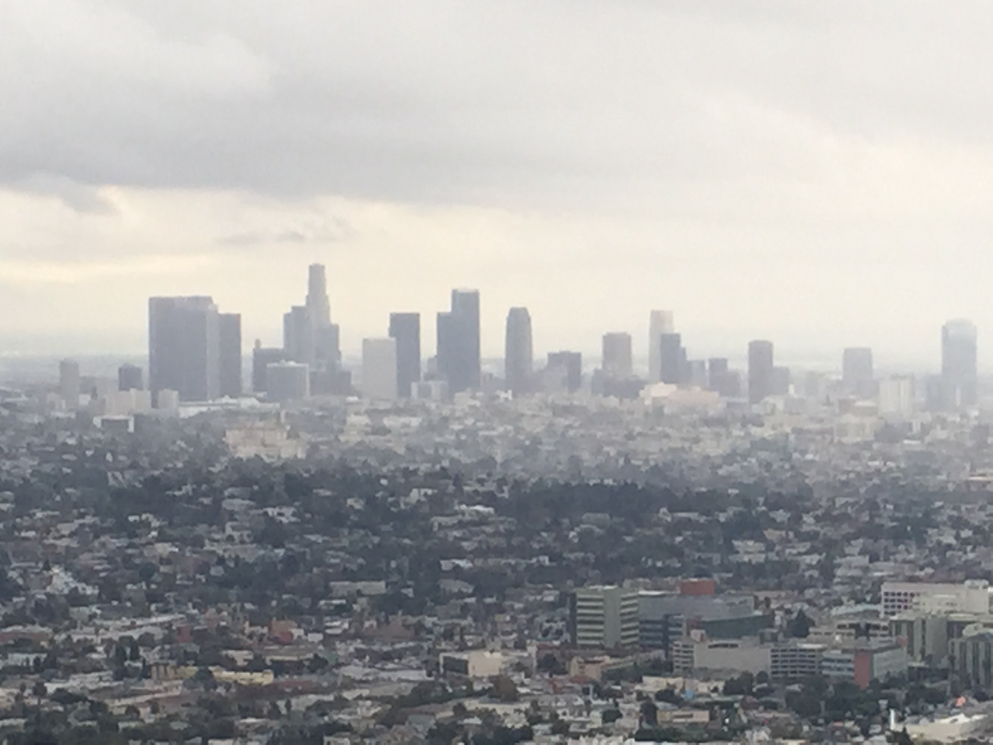 Downtown LA Skyline from Griffith Observatory.