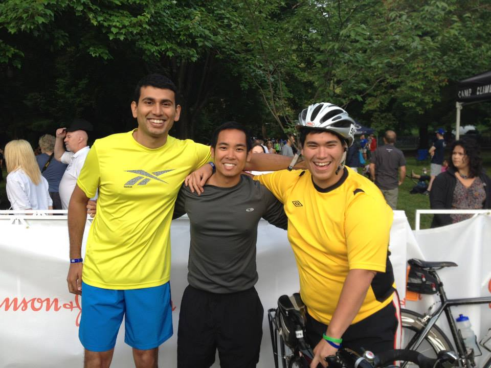 Team photo after the 2014 Philadelphia Triathlon.