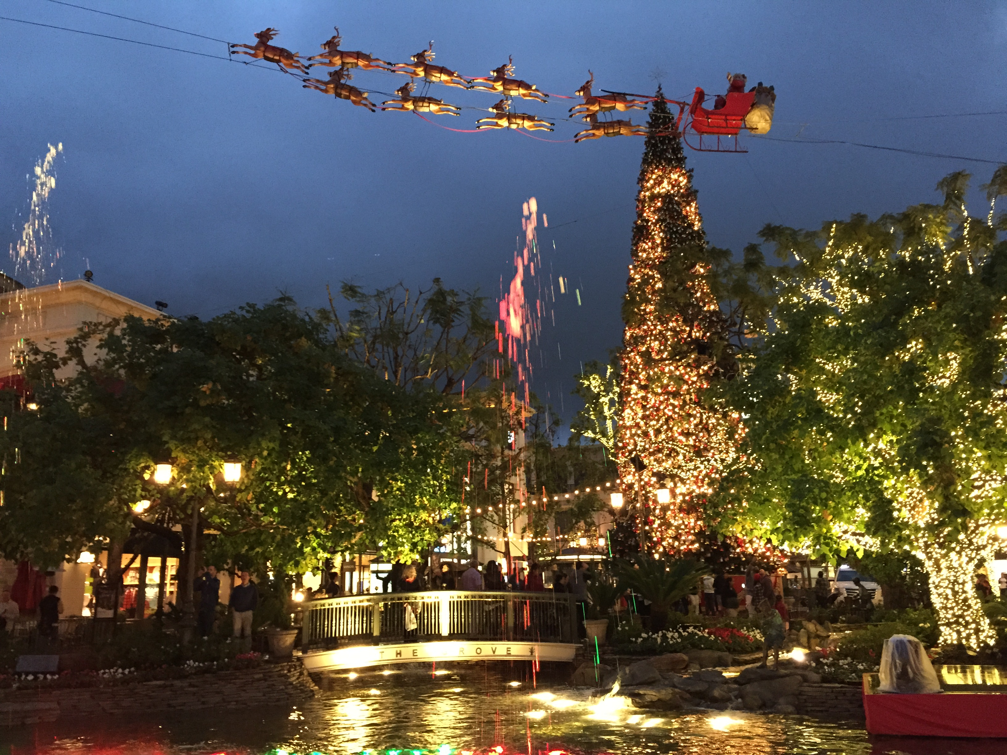 Hanging out at the Americana at Brand in Glendale with my family over Christmas 2014.