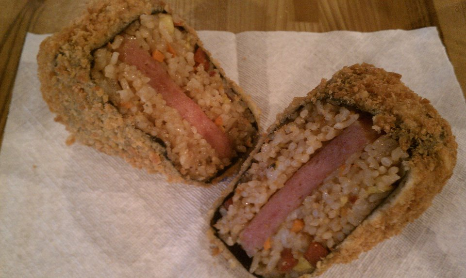 Deep fried spam musubi.