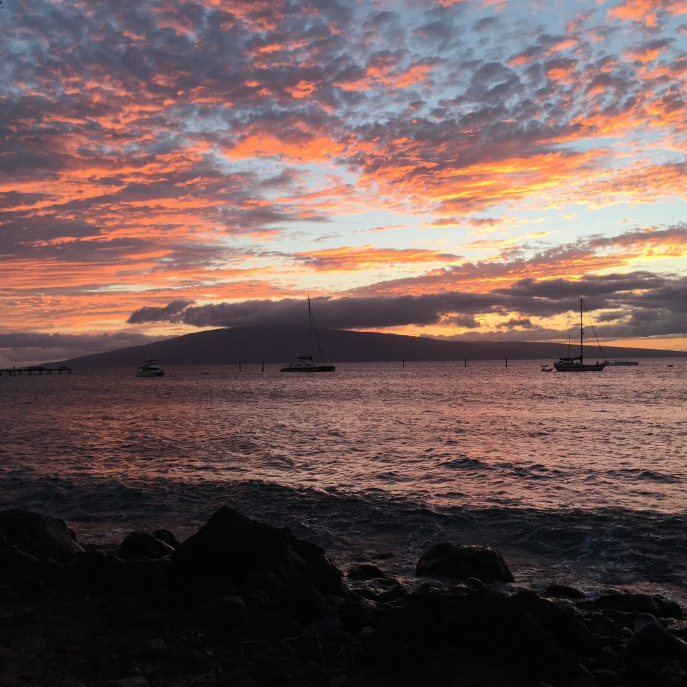 View of Lahaina coastline near Front St.