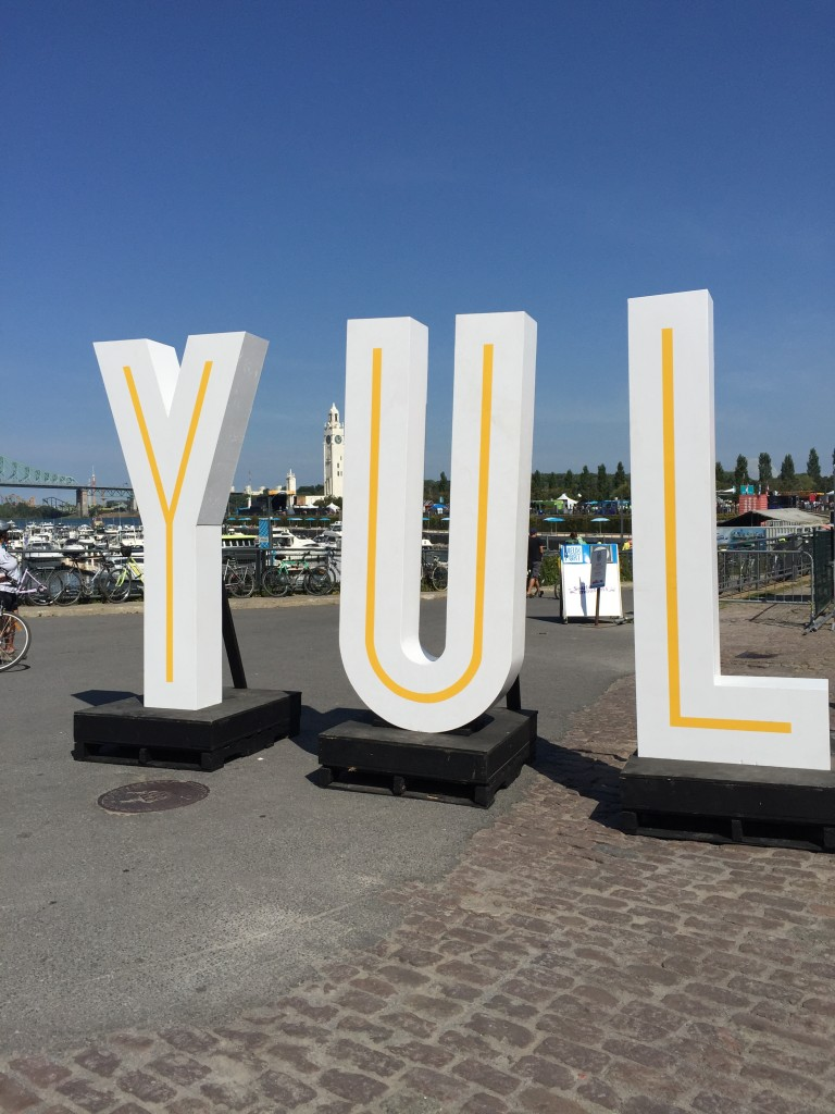 The entrance to the EAT YUL summer food festival in Montreal.