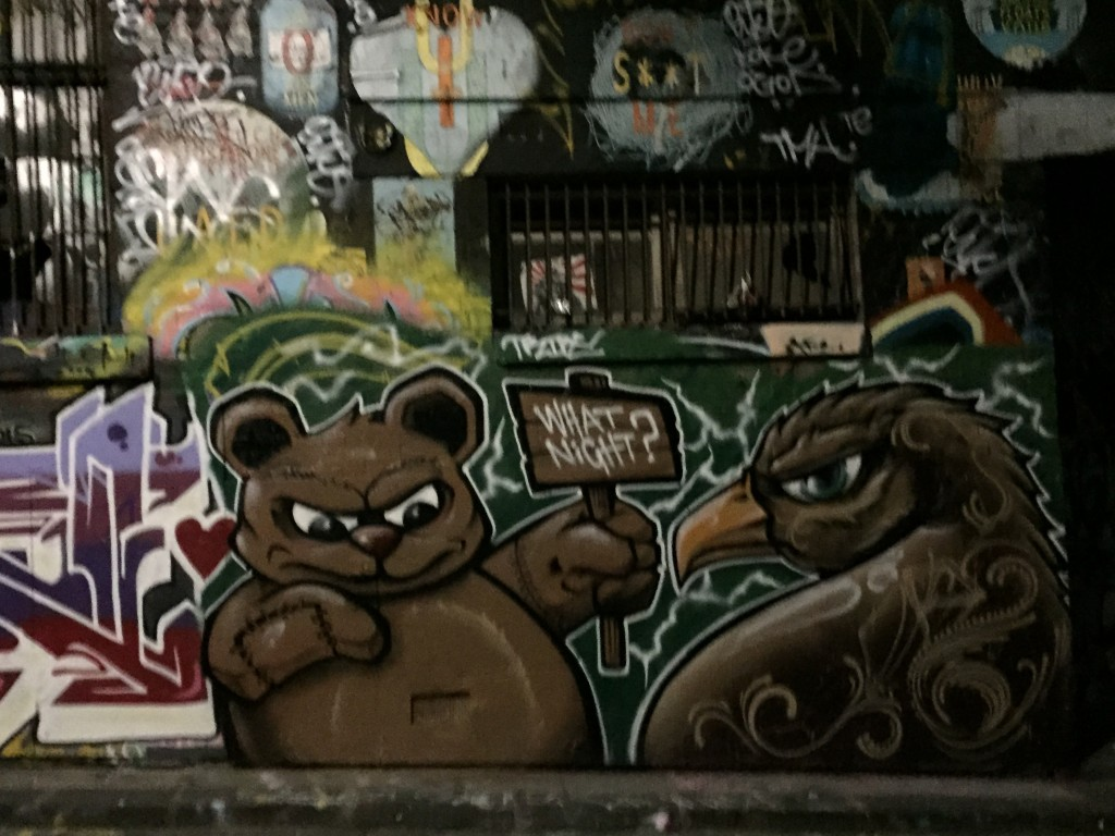 Graffiti along Hosier Lane