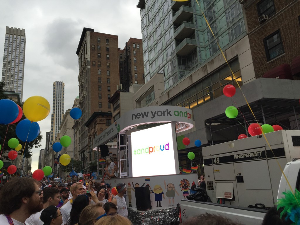 NYC Pride Parade 2015 with Google