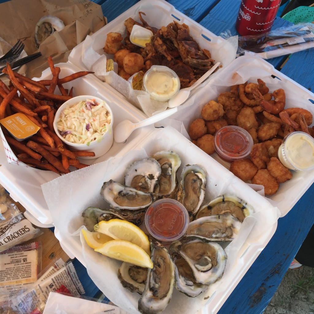 Seafood at Chincoteague Island