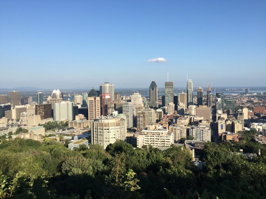 Mount Royal Park, Montreal Skyline