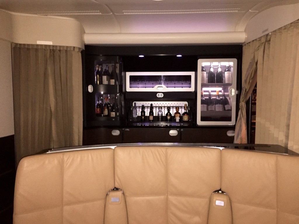 First Class Lounge on the plane