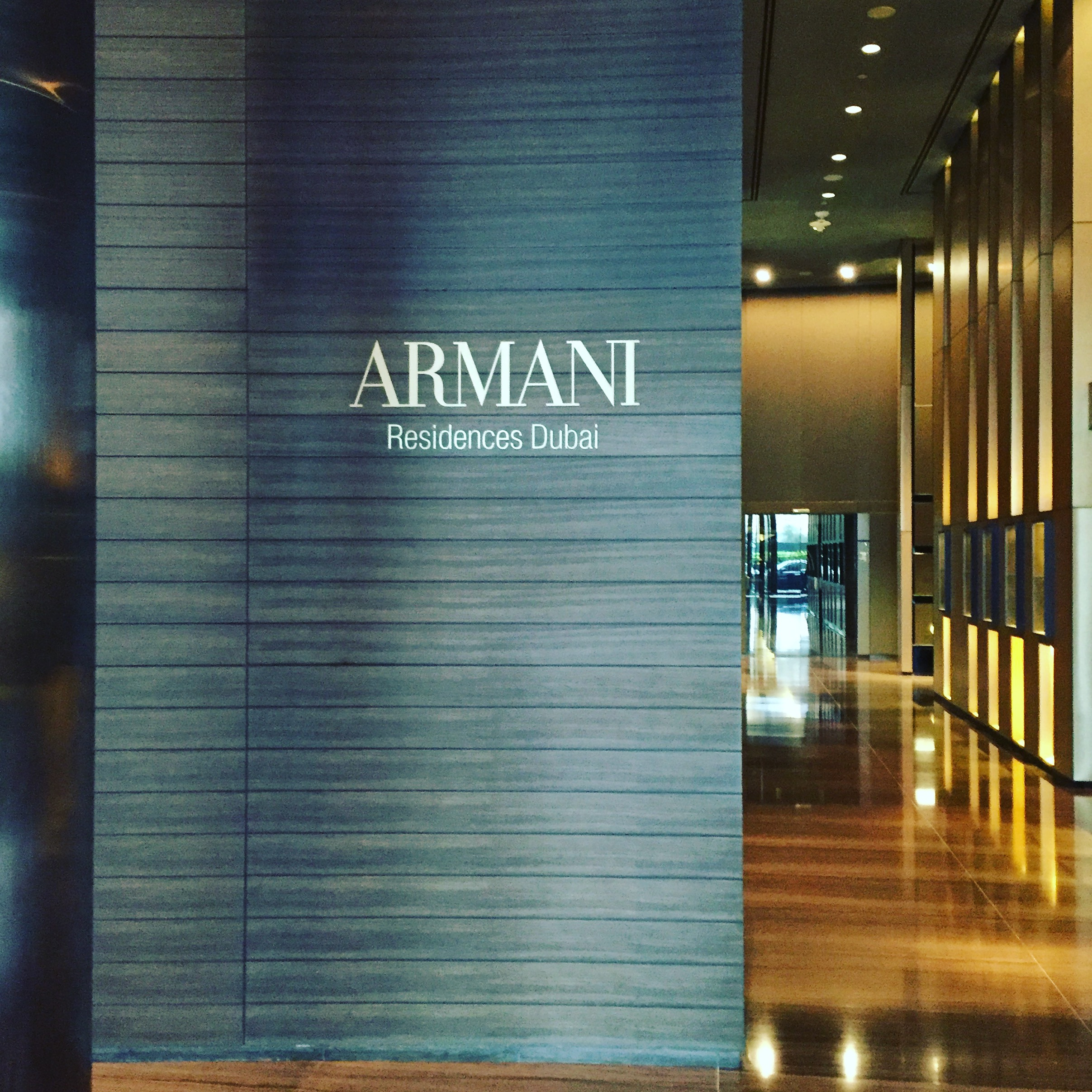 Waiting for high tea at the Armani Residences at Burj Khalifa
