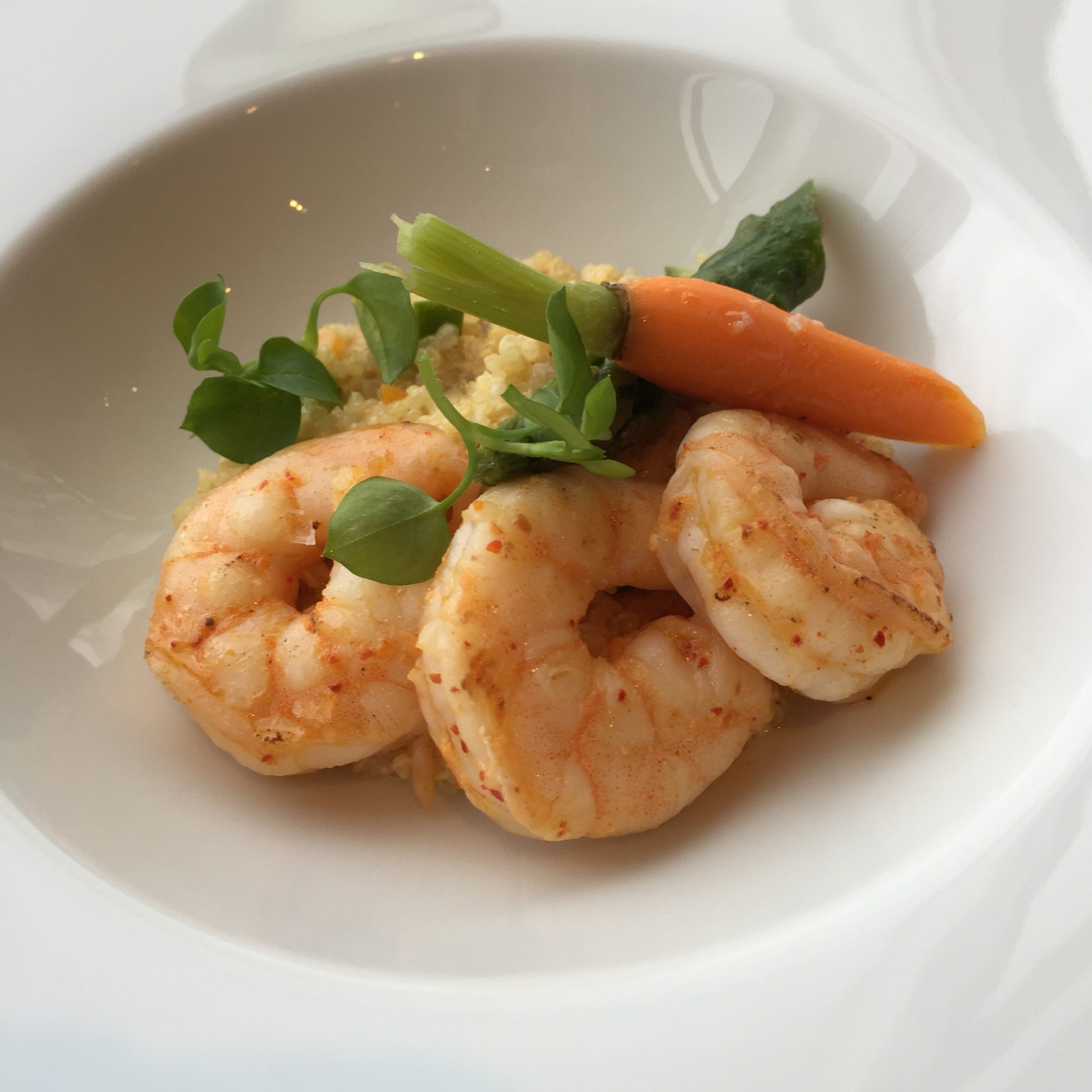 High Tea Shrimp Course