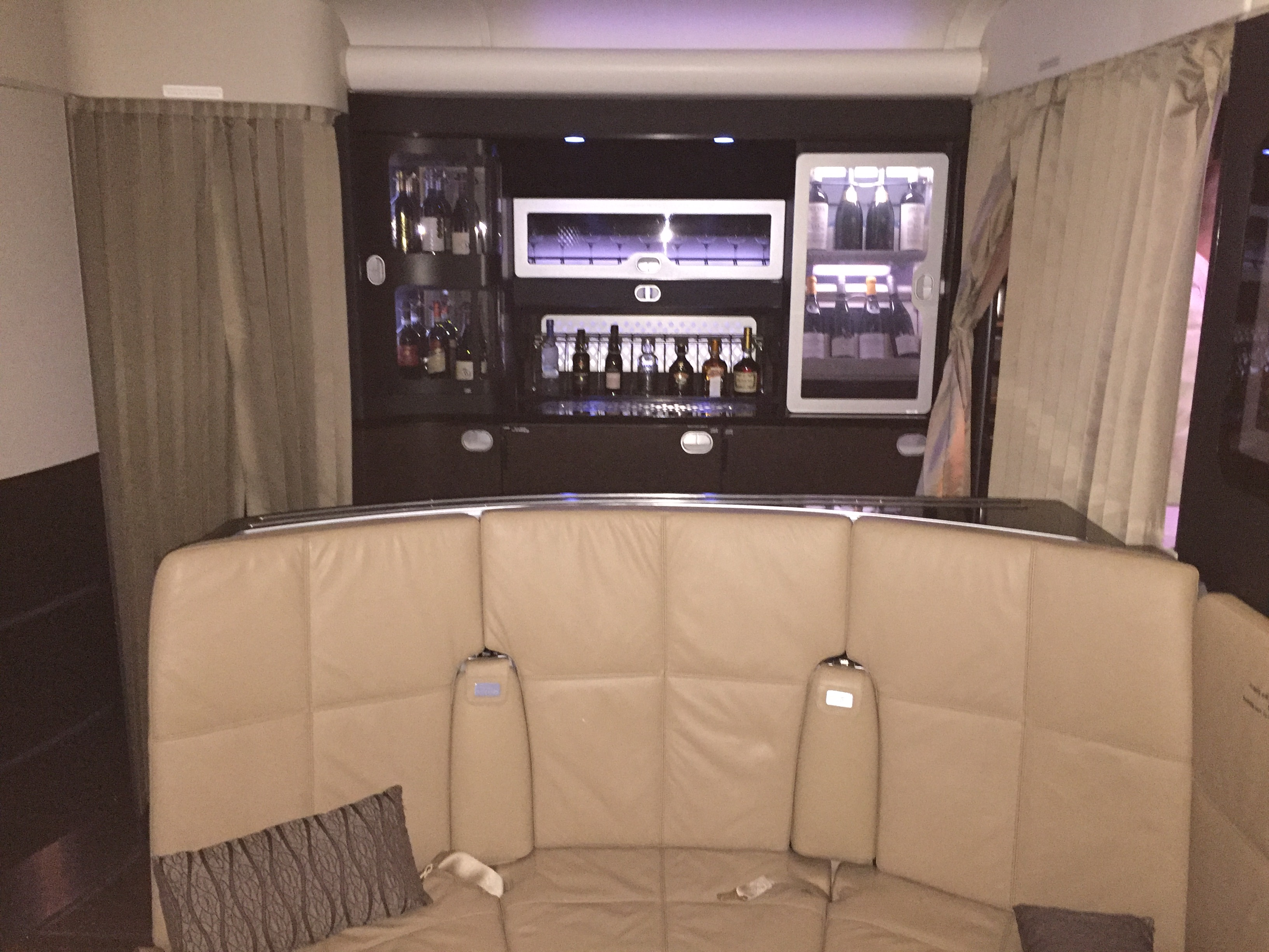 Etihad A380 Shared On-Board Lounge