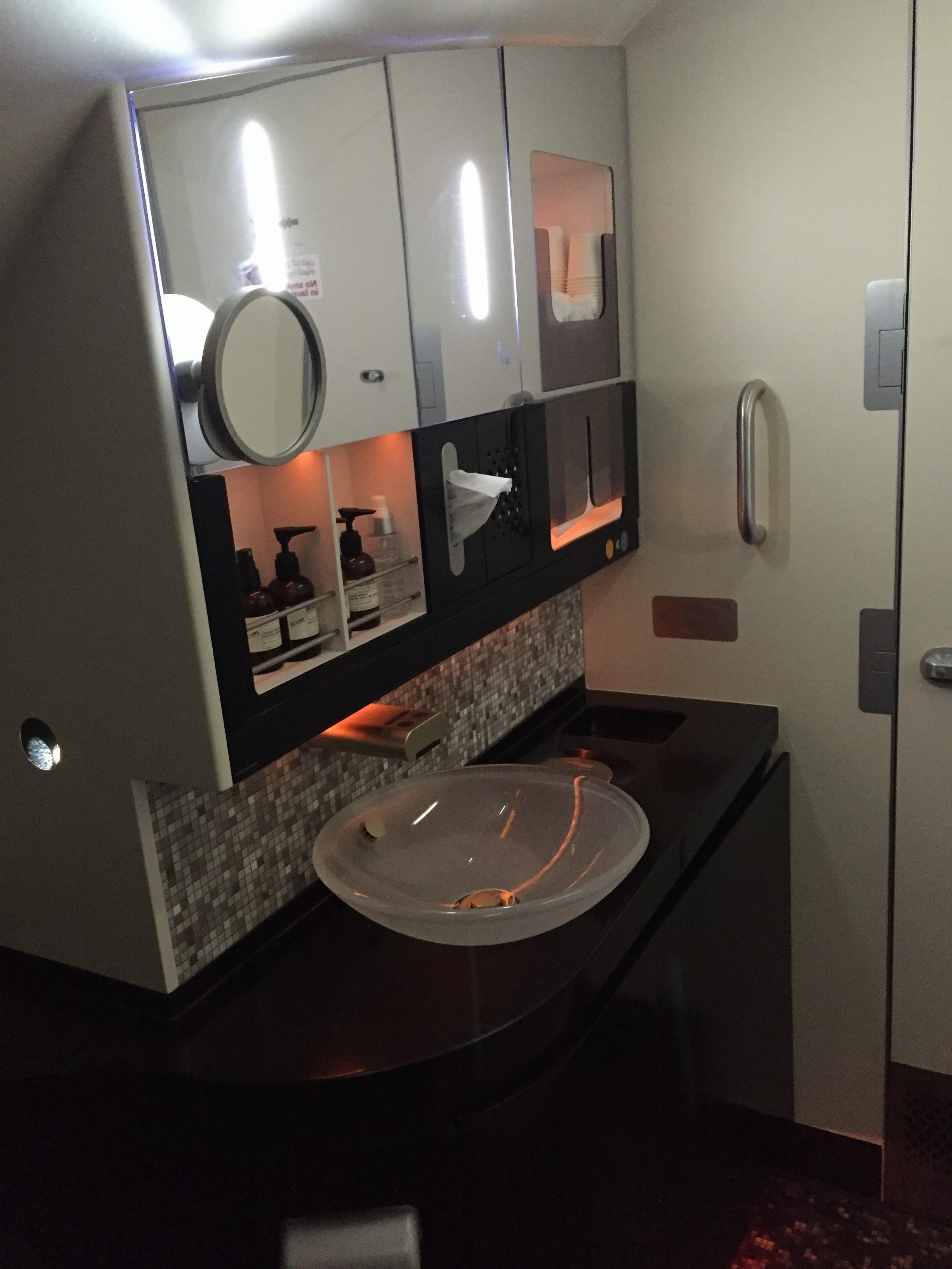Etihad A380 First Class Bathroom