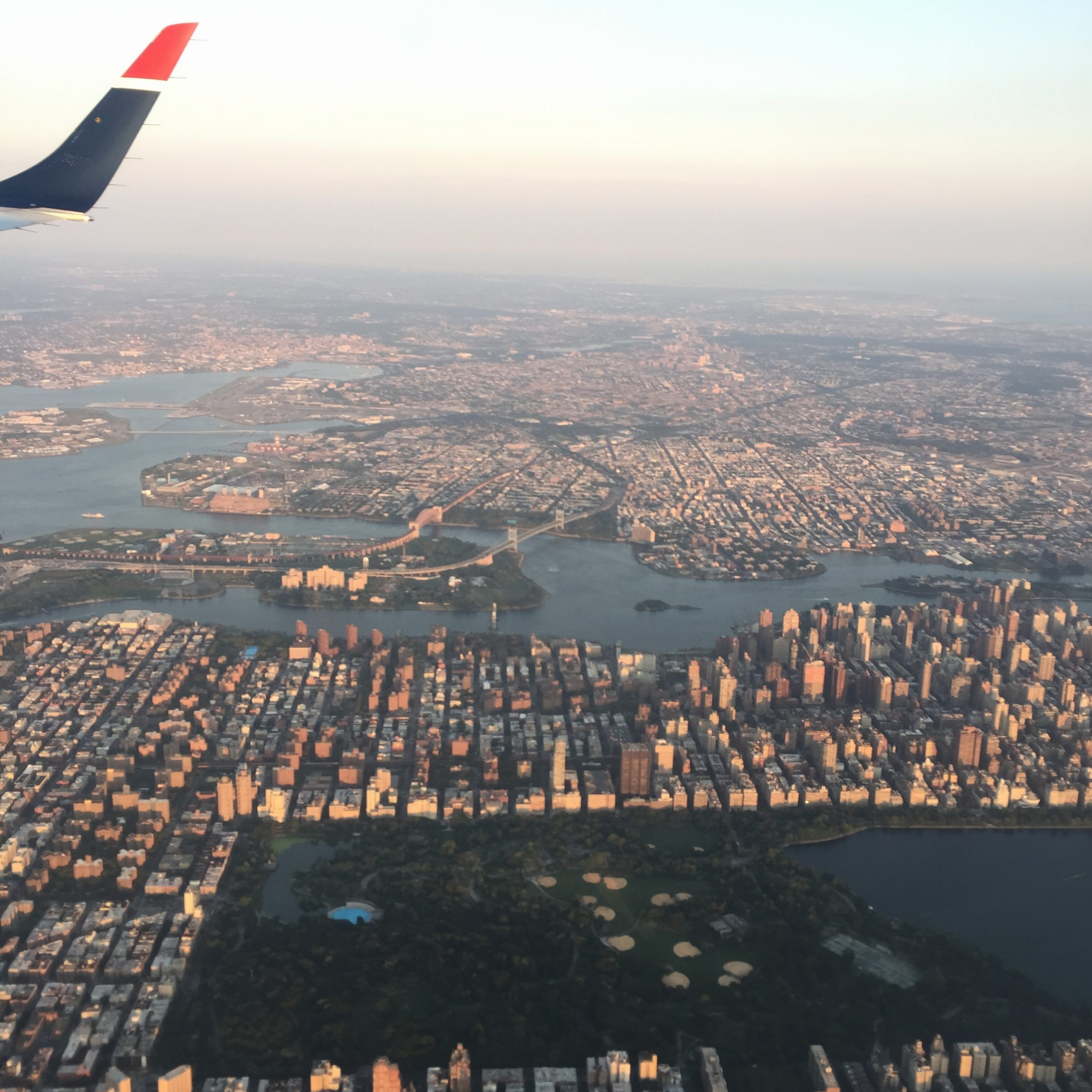 Flying over Central Park en route to La Guardia. Thank you British Airways Avios points for making flying to NYC a viable option.