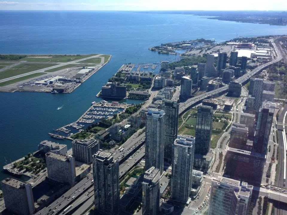 Toronto Harbour from CN Tower