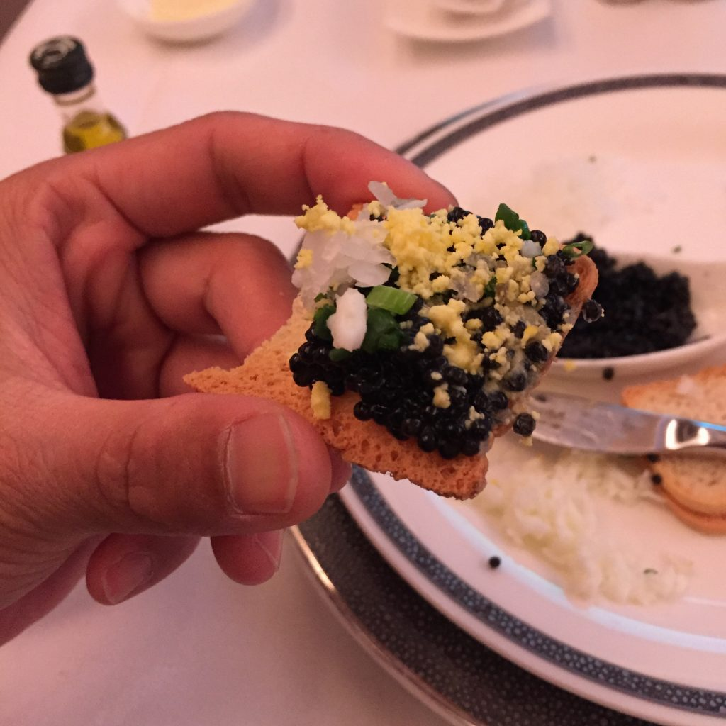How to eat caviar