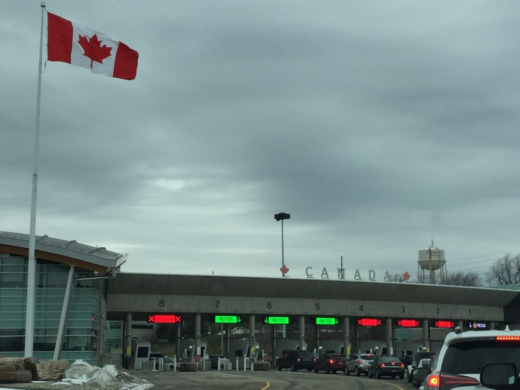 At the Canadian Border