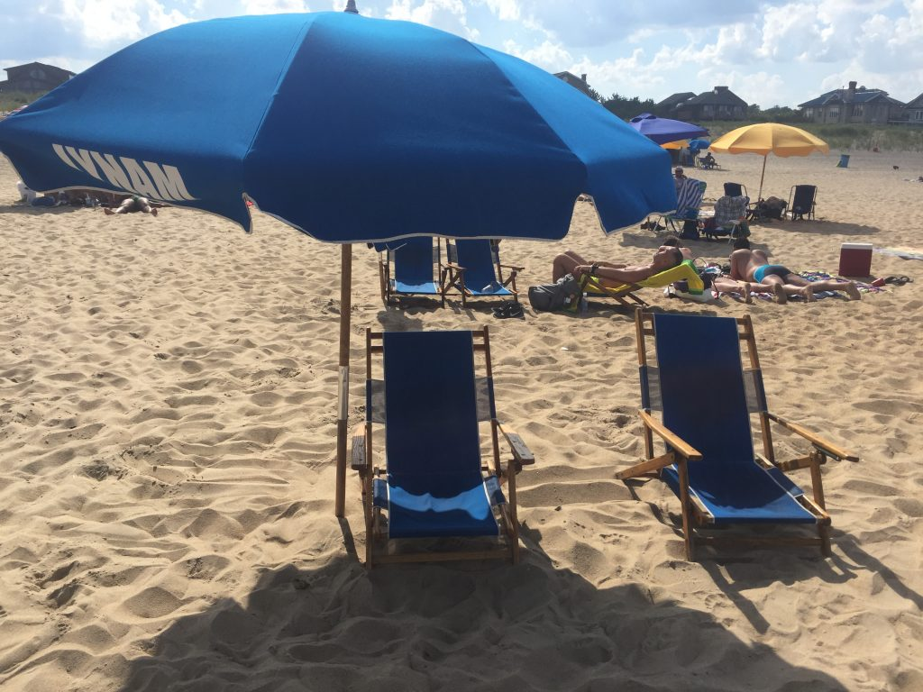 Beach chairs at Rehoboth Beach