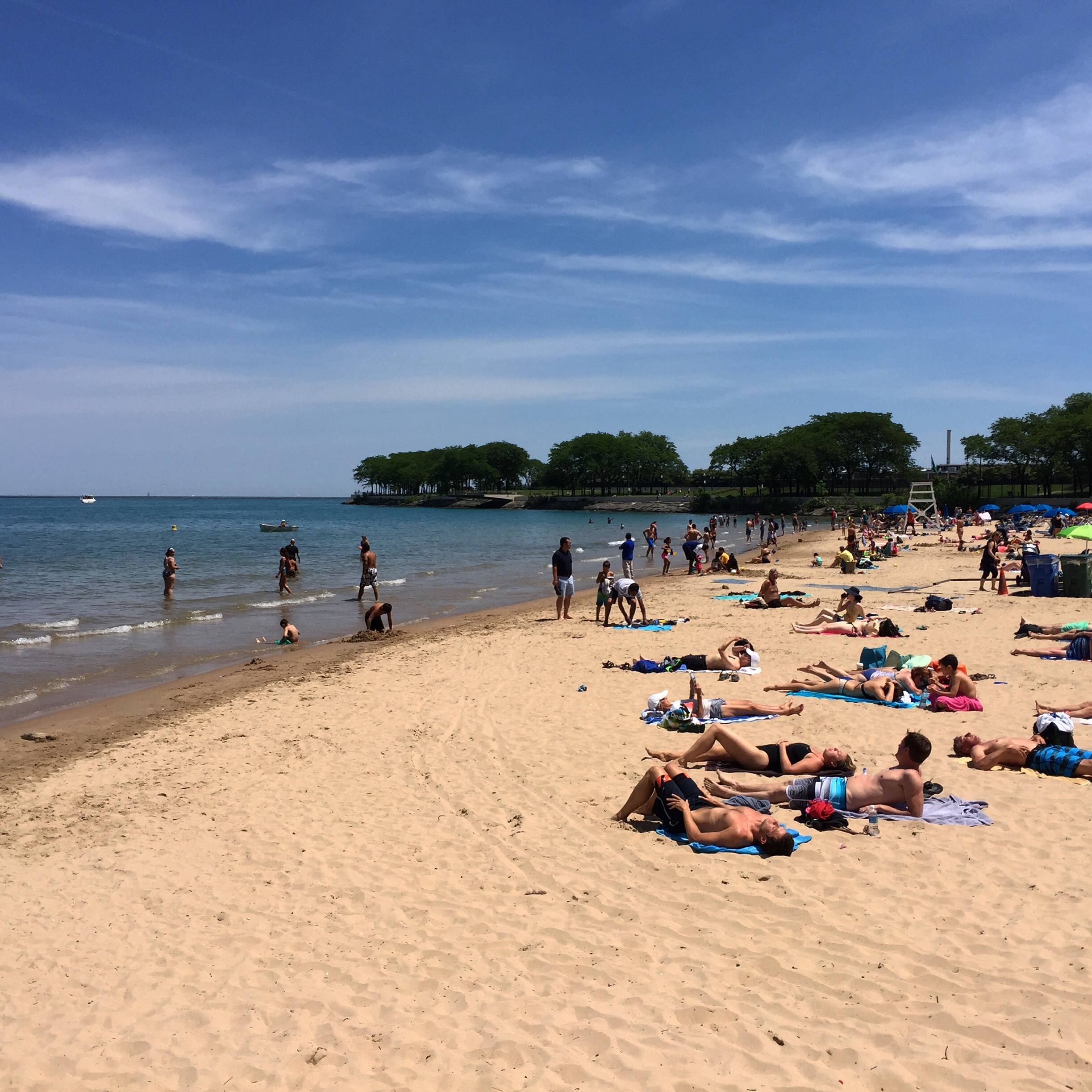 Ohio Street Beach in Chicago