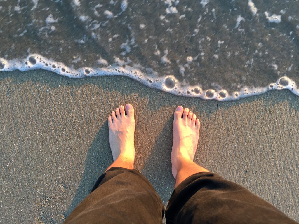 One Foot on Sand in Seal Beach