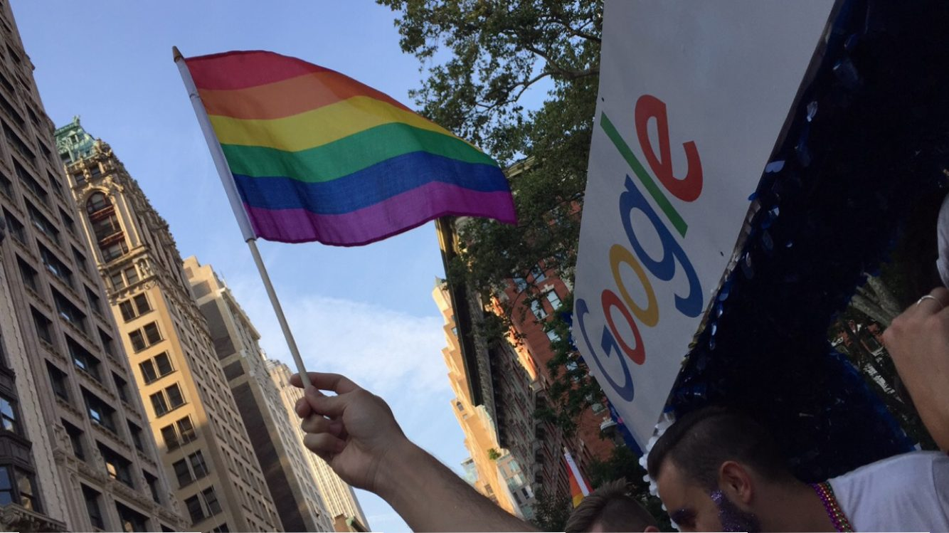 Marching with Google at 2016 NYC Pride Parade