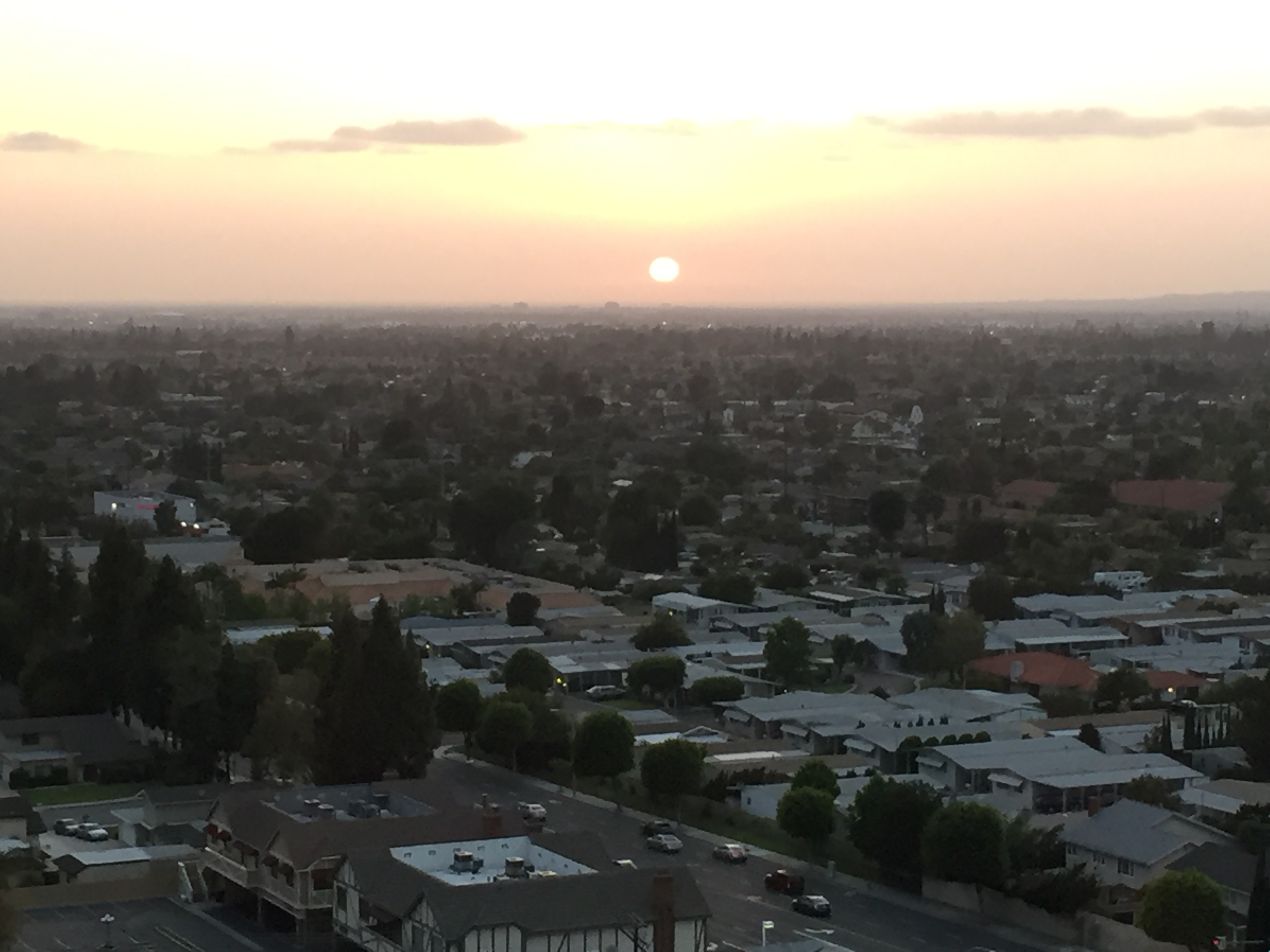 Sunset over Orange County