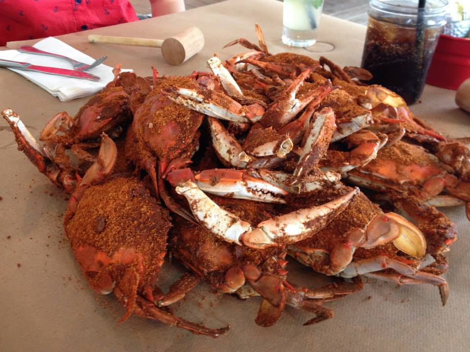 Feasting on Maryland Crab in Annapolis.