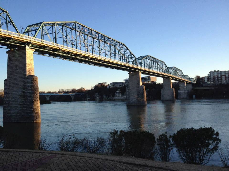 Bridge over the Tennessee River in Chattanooga.