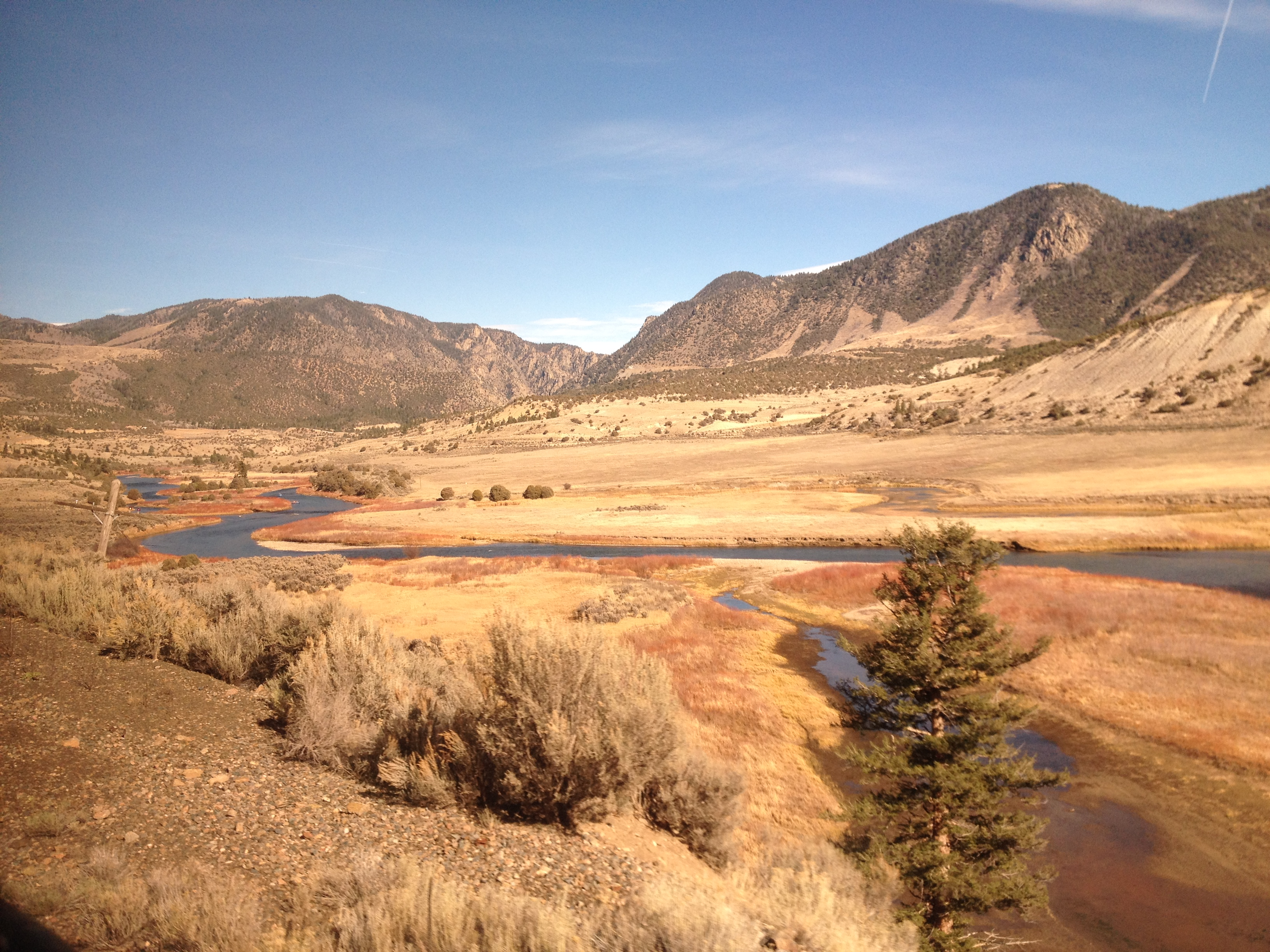 View of the Colorado River aboard the California Zephyr.