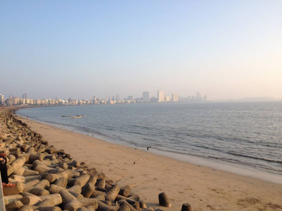 Pearl's Necklace at Chowpatty Beach in Mumbai.