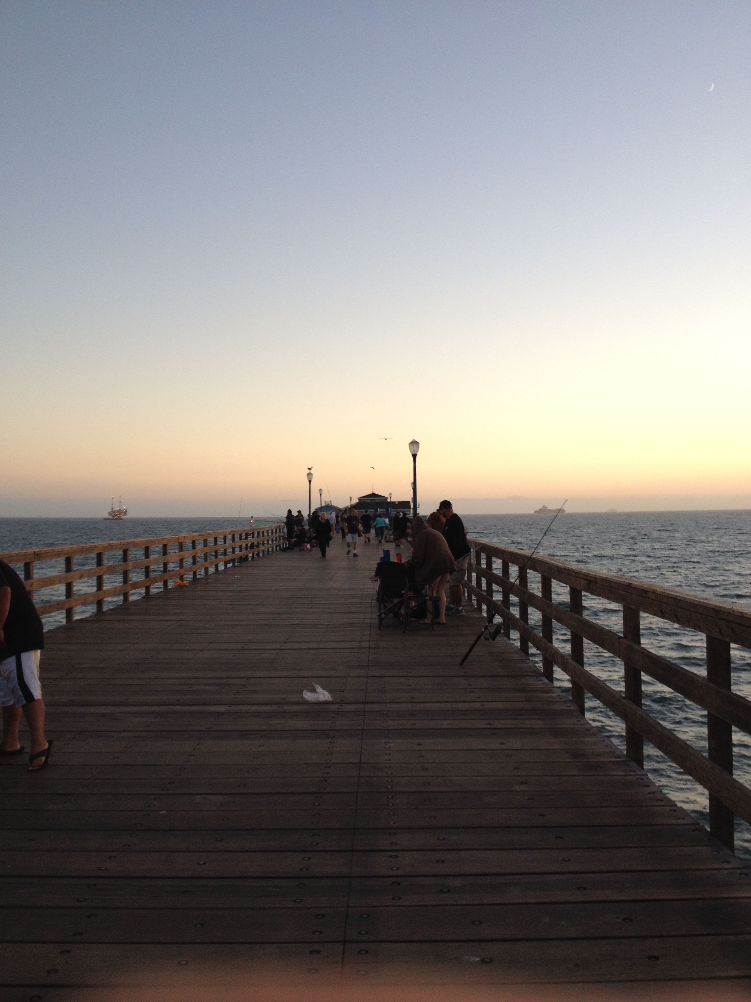 Walking the pier in Seal Beach.