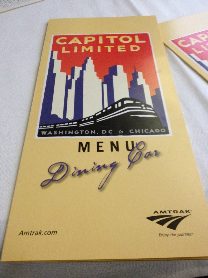 Capitol Limited - Dining Menu