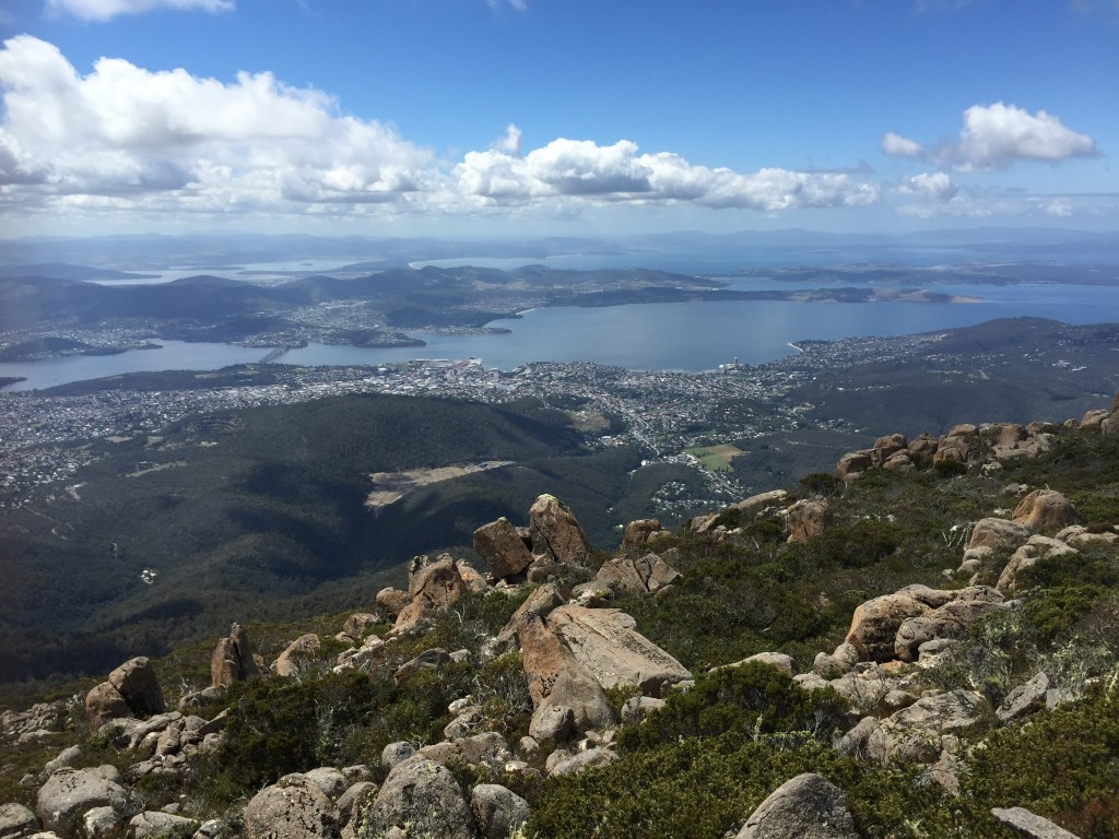 Hobart from Mt. Wellington