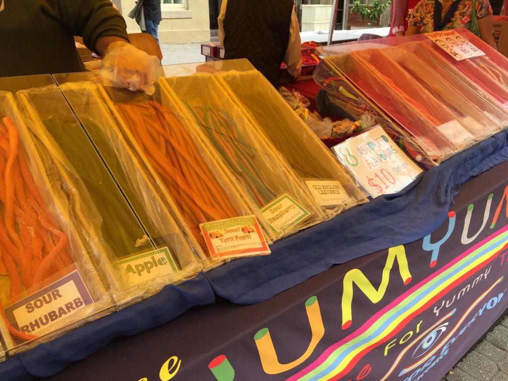 Candy stand at Salamanca Market