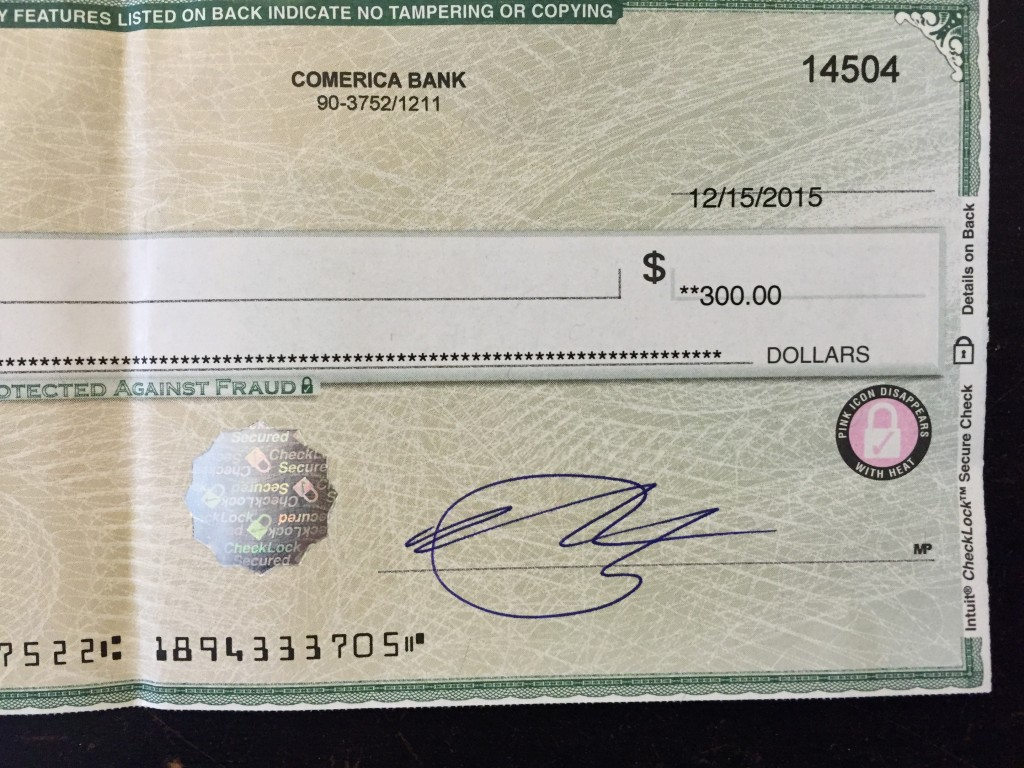 First freelance paycheck!