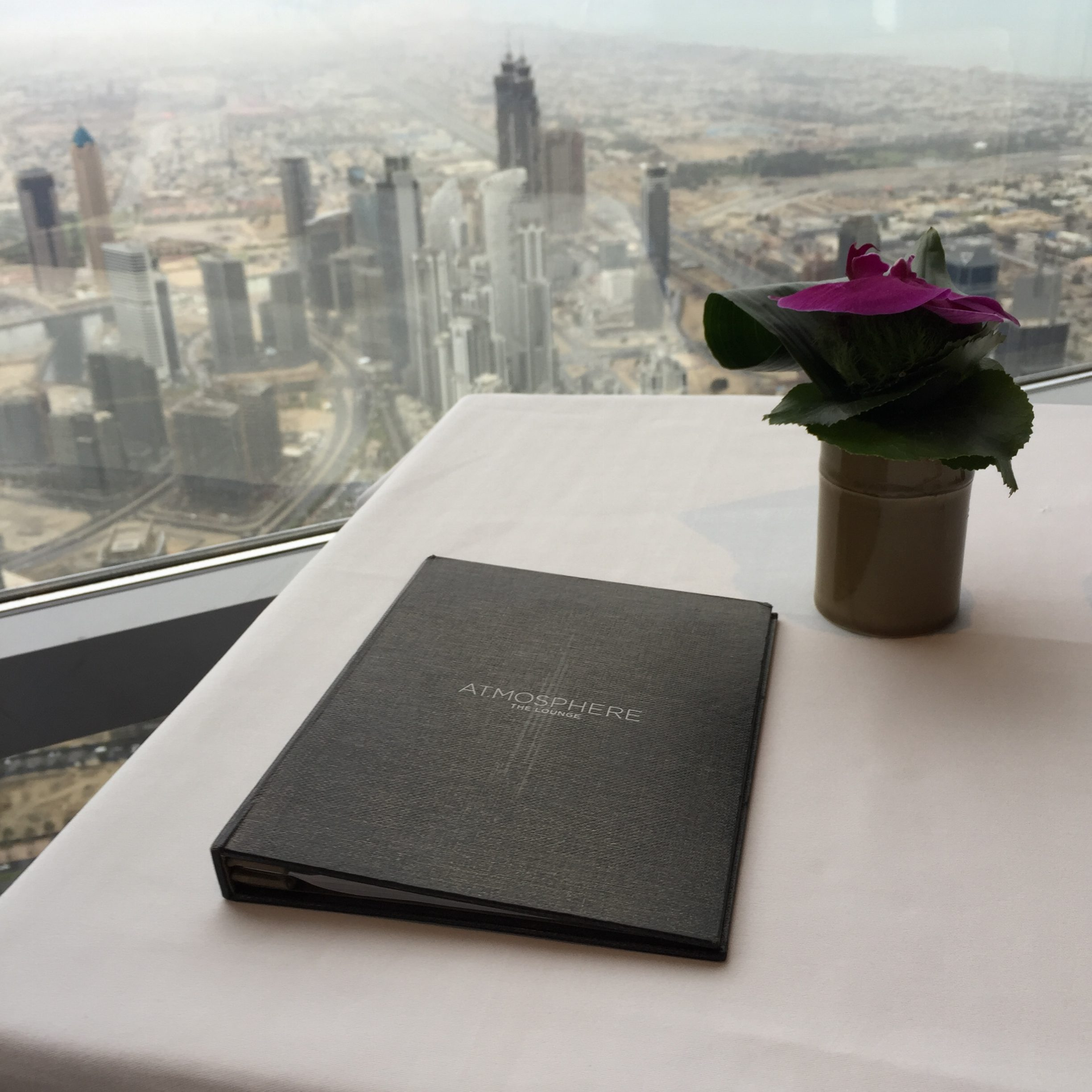 Window table at At.moshpere at Burj Khalifa