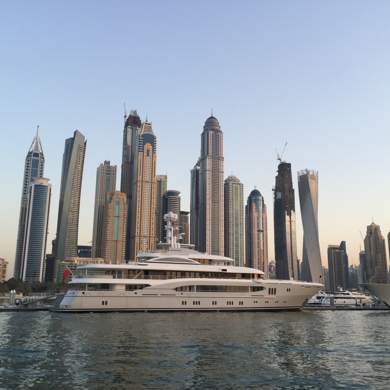 Yacht at Dubai Marina