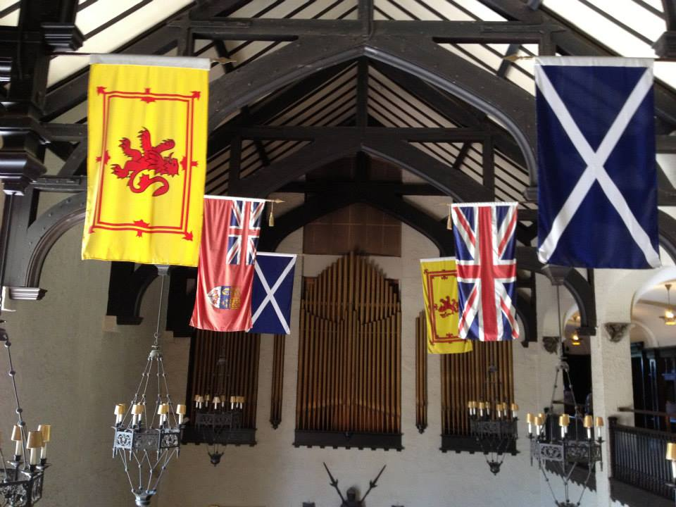 Flags inside Casa Loma