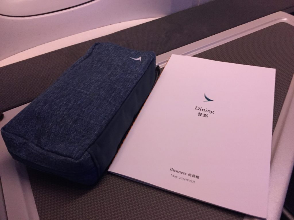 Cathay Pacific Business Class Amenity Kit