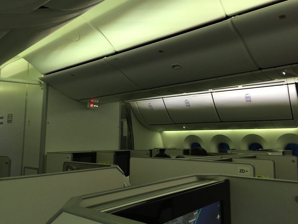 JL004 business class section