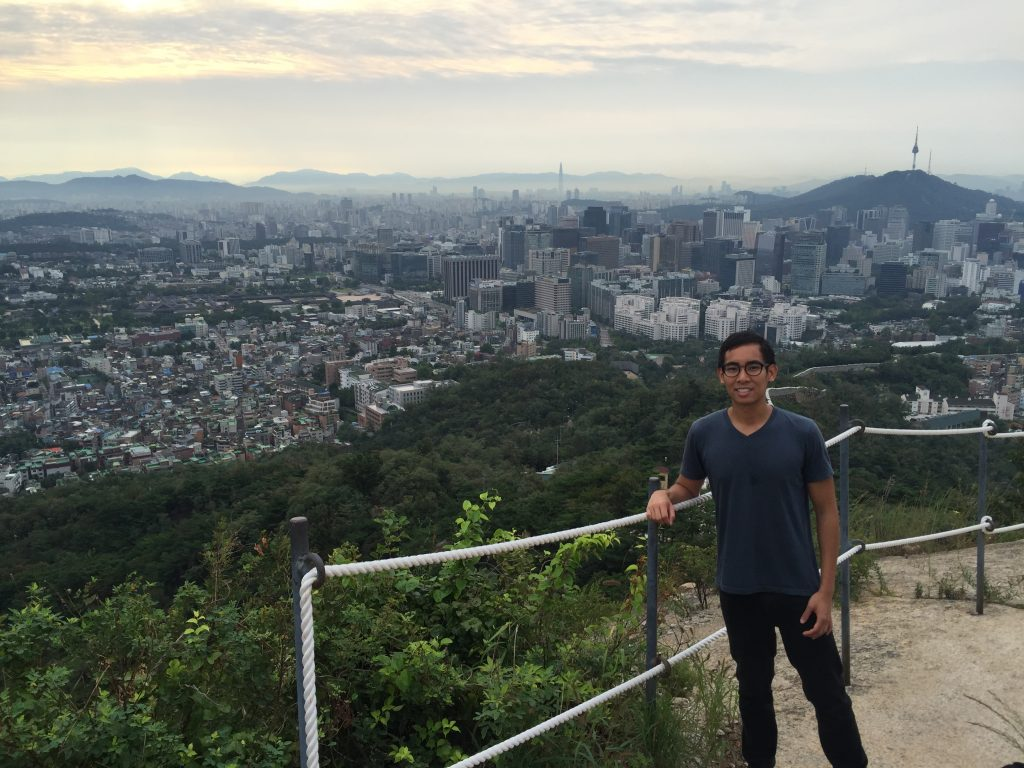 Morning view of Seoul from Ansan